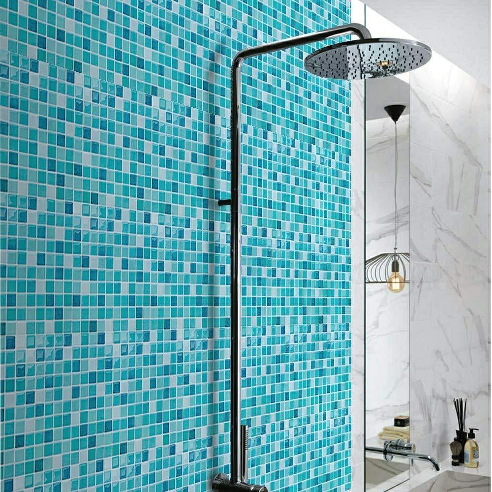 Fam Sticktiles Teal Arabesque Peel And Stick Tile For Kitchen Backsplash Stick On Tiles For Backsplash Decorat Smart Tiles Stick On Tiles Decorative Wall Tiles