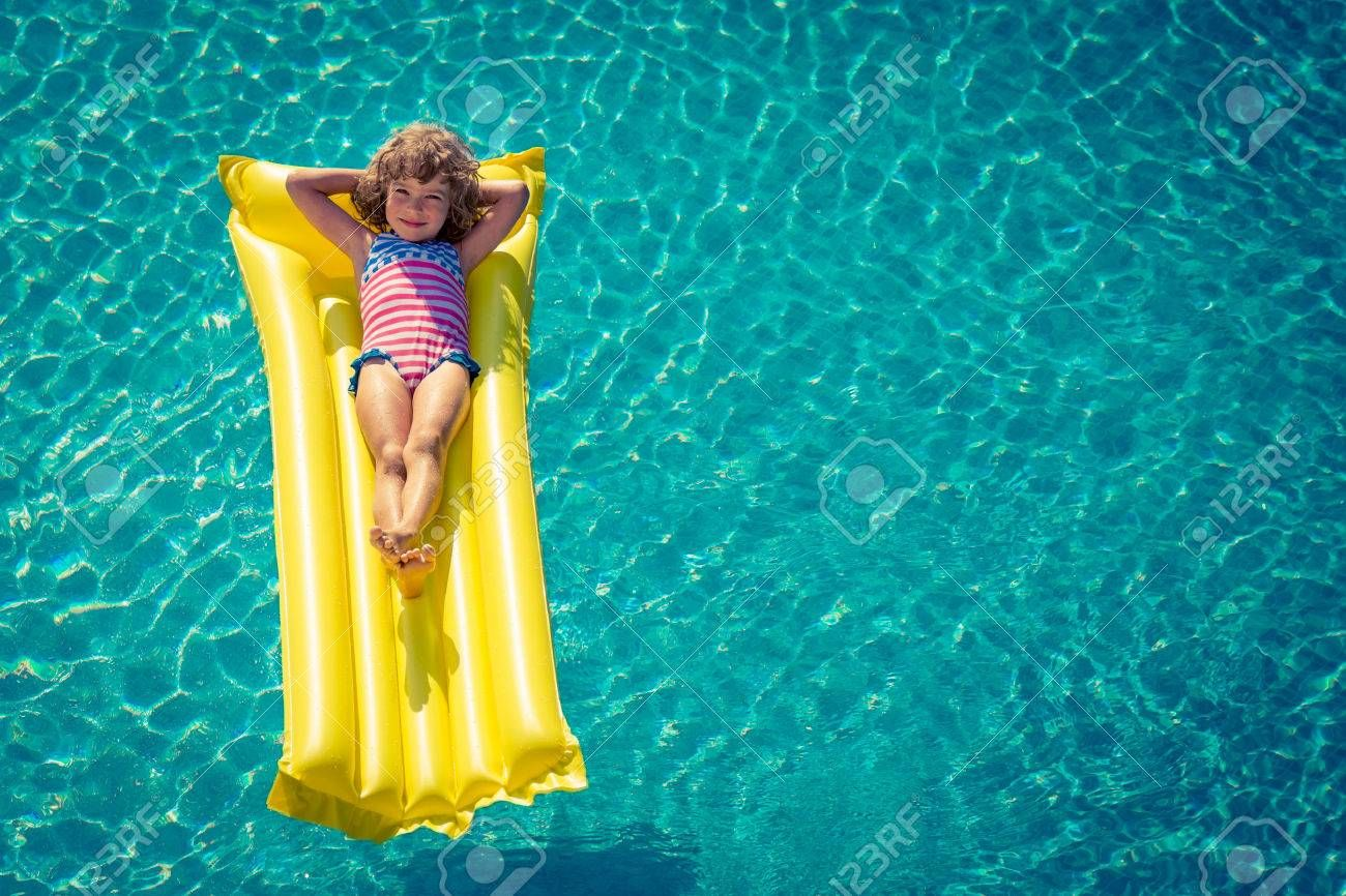 Happy child playing in swimming pool. , #AD, #child, #Happy
