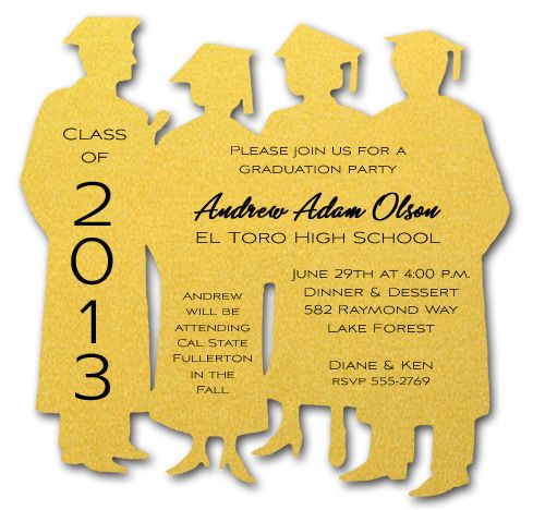 17 Best images about Graduation – Invitation Card for Graduation Party