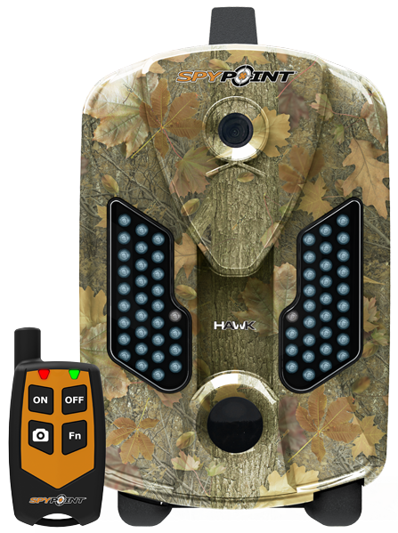 HAWK Full HD trail camera  This camera has new features: FUll HD picture quality and video recording with sound, accelerated trigger time and photo burst option. The HAWK camera uses high-power invisible LEDs providing imperceptible illumination at night to avoid spooking the game and to ensure a discrete operation. Use the RC-1 remote control to enjoy the benefits offered by the REMOS™ wireless technology.