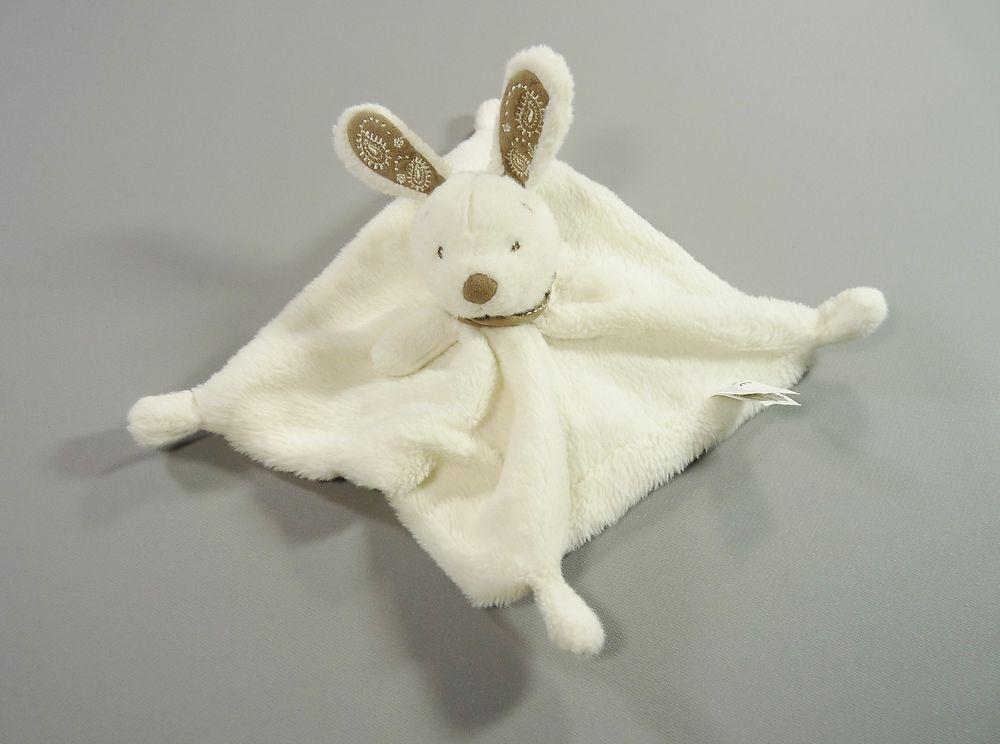 Doudou plat lapin blanc Nicotoy in Bébé, puériculture, Peluches, doudous | eBay
