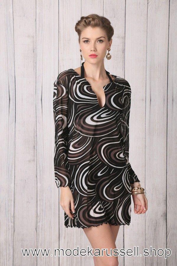 Damen Chiffon Kleid in Schwarz. Trends 2018Young Fashion