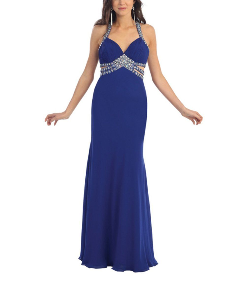 Another great find on zulily may queen royal blue embellished