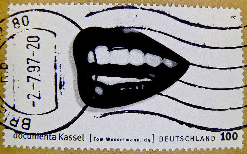 Büyük damgası Almanya 100pF (d4 - Tom Wesselmann göre boya) timbres Allemagne Sellos Alemanha selos Germany postzegel 우표 독일 유럽 γραμματόσημα Γερμανία frimerker Tyskland Markica Njemačka pulları Almanya ス タ ン プ ド イ ツ の ヨ ー ロ ッ パ postzegels 100 Almanya francobolli | stampolina göre