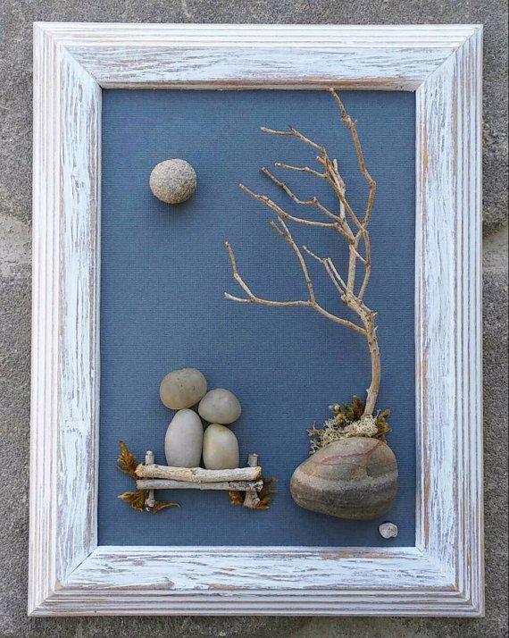 Pebble Art Rock Wedding Gift By Crawfordbunch On Etsy