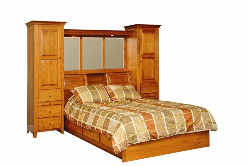 Amish Shaker Pier Platform Bed Shaker Furniture
