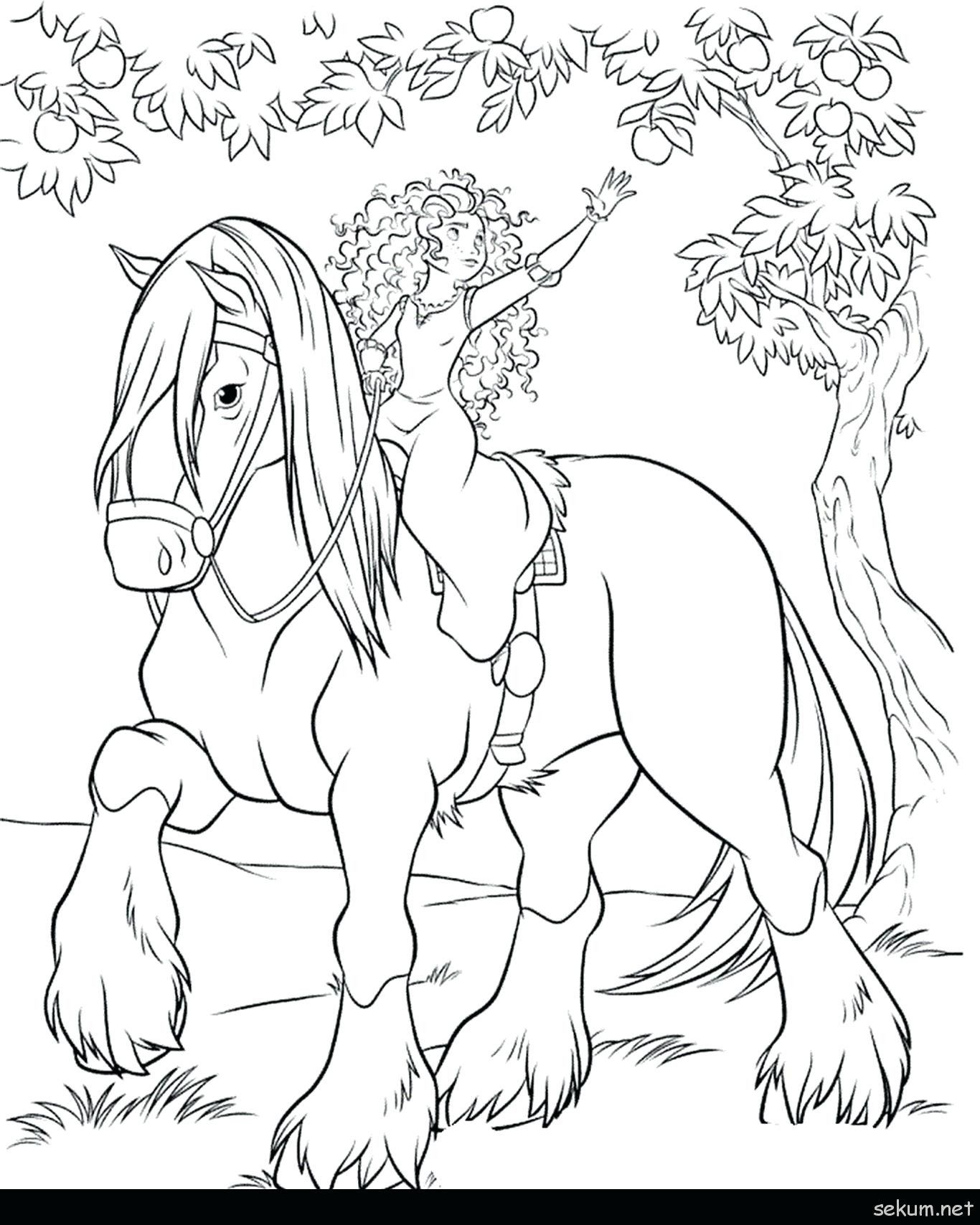 Christmas Horse Coloring Page Youngandtae Com Horse Coloring Pages Princess Coloring Pages Disney Princess Coloring Pages