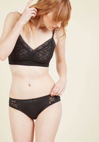 Too Hot Chocolate to Handle Panties in Noir, @ModCloth