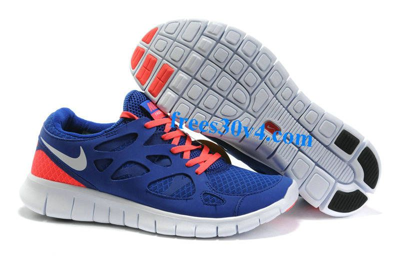 Drenched Blue White Solar Red Nike Free Run 2 Mens Running Shoes Blue  Womens