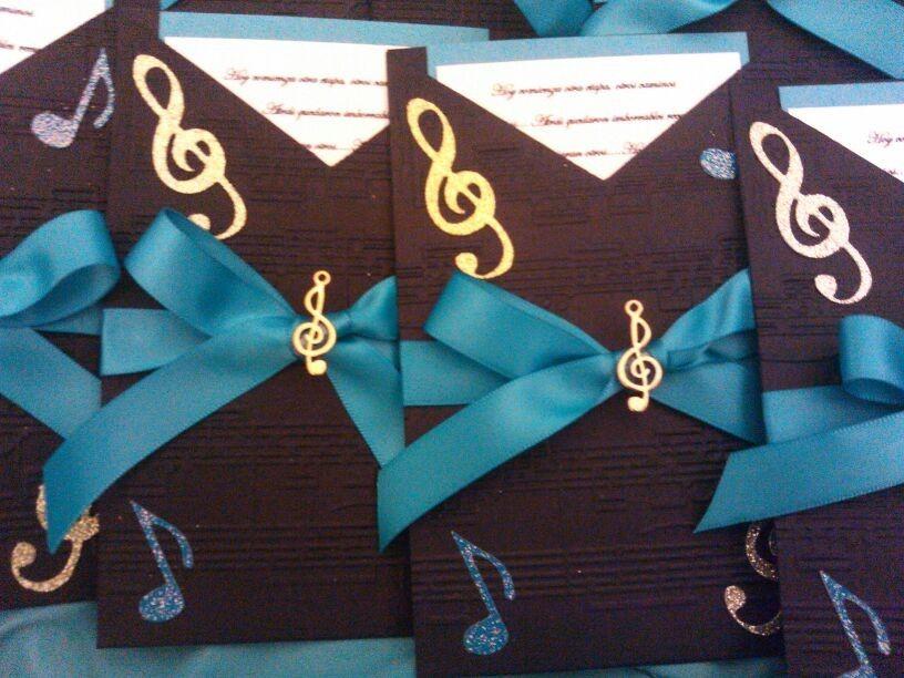 Ramos De 15 Anos: Invitación 15 Años Musica/Music Notes