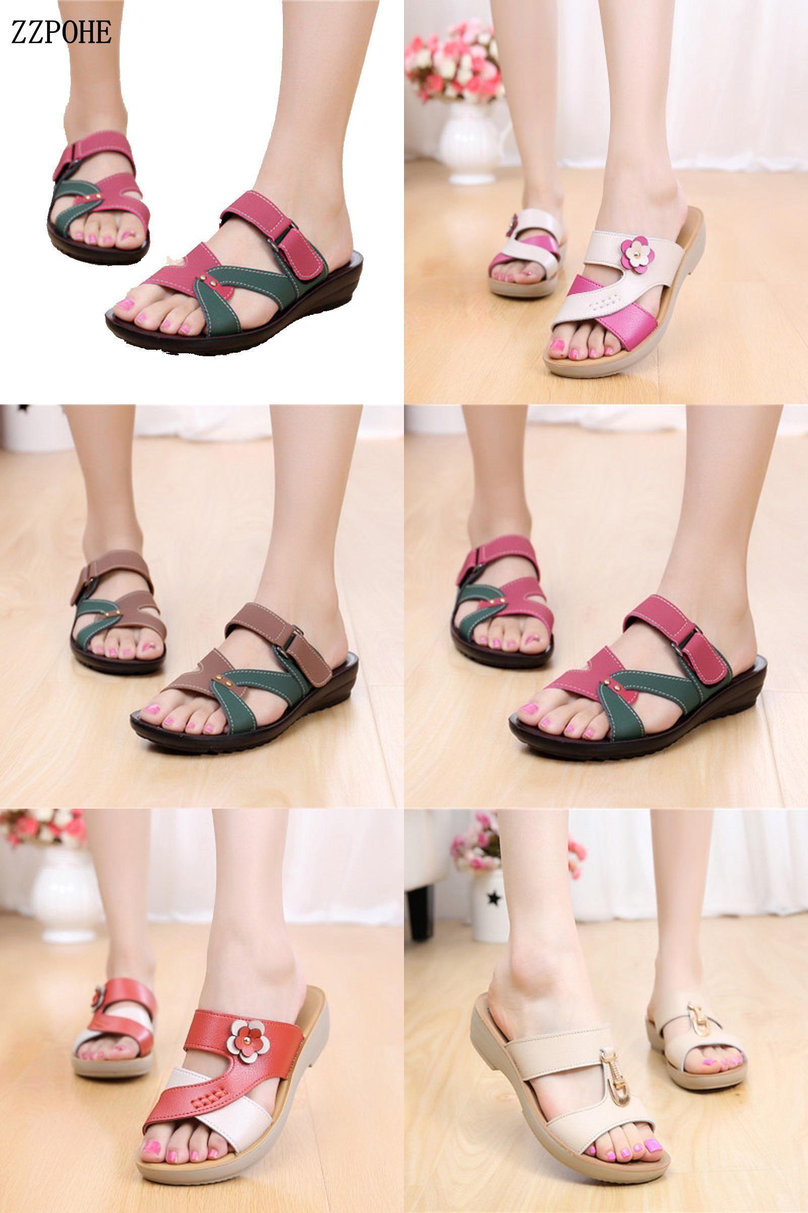 e1bf7e4342ec6  Visit to Buy  ZZPOHE Summer mother slippers soft bottom comfortable slope  non-slip