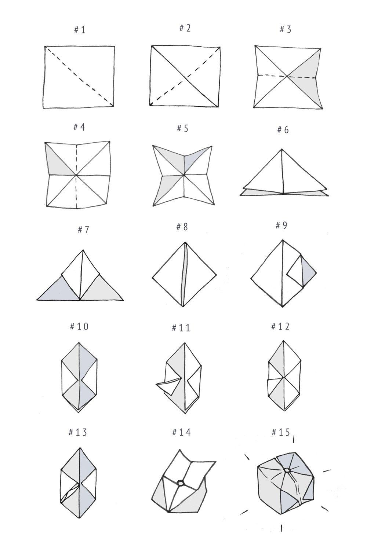 diy  origami cube
