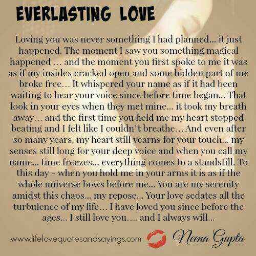 Everlasting Love Quotes Inspiration Everlasting Love  True Love  Pinterest  Relationships And