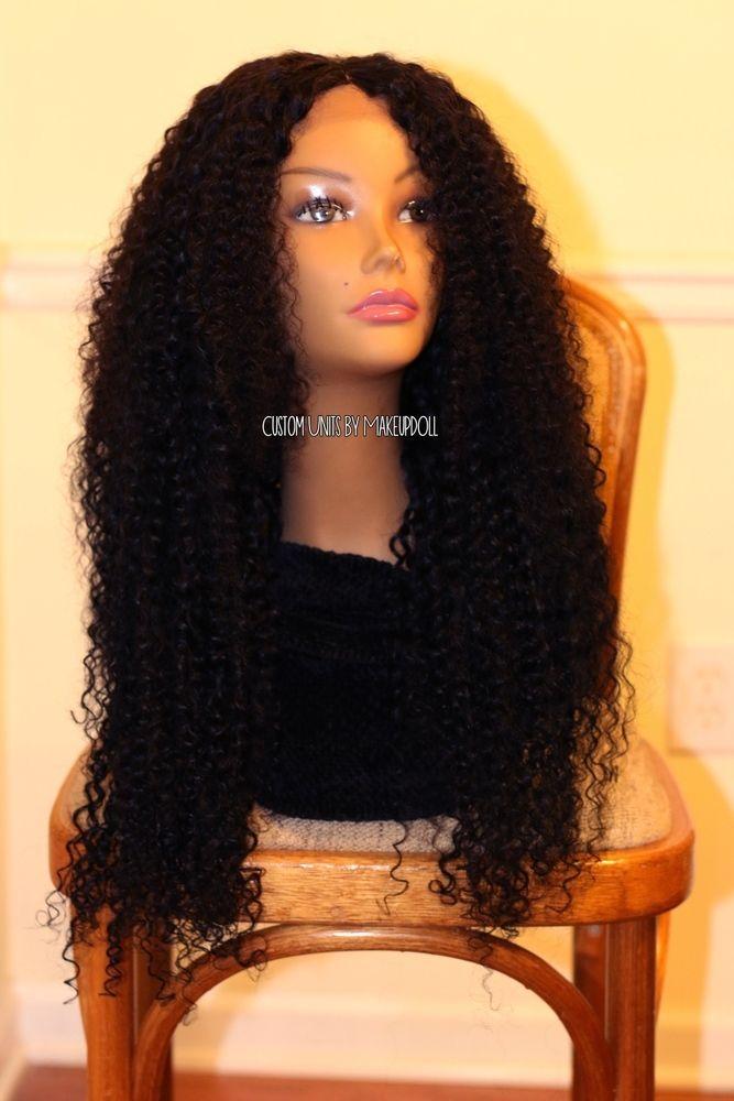 Custom Full Wig With 5 Bundles Of Virgin Malaysian Curly Hair