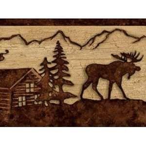 Elk River Wallpaper Border Lodge Rustic Cabin Wallpaper Border Rustic Cabin Rustic Wallpaper