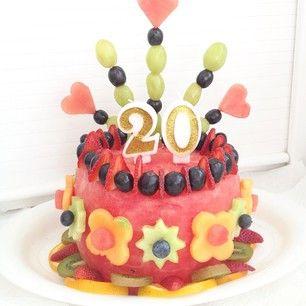 Sensational Watermelon Cake Great Healthy Alternative For Kids Birthday Funny Birthday Cards Online Alyptdamsfinfo