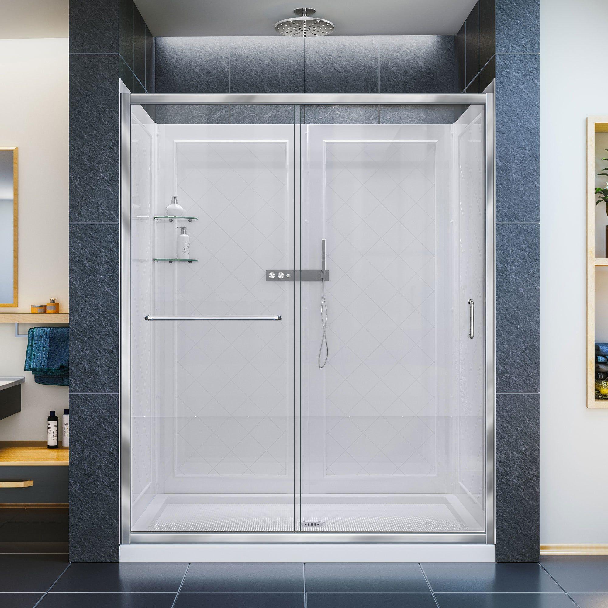 Dreamline infinityz frameless sliding shower door in x in