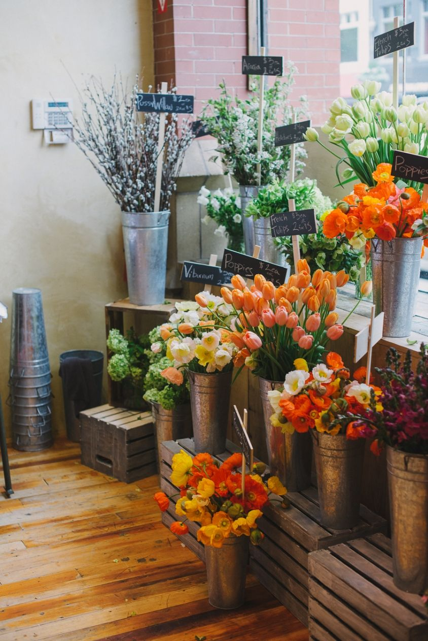 Collaboration Flower Pop Up Shop For Anthropologie With A Daily