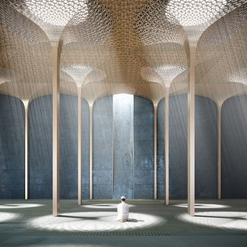 Modern Home Architecture Interior Designs With Columns: John McAslan To Redesign Britain's Largest Mosque In