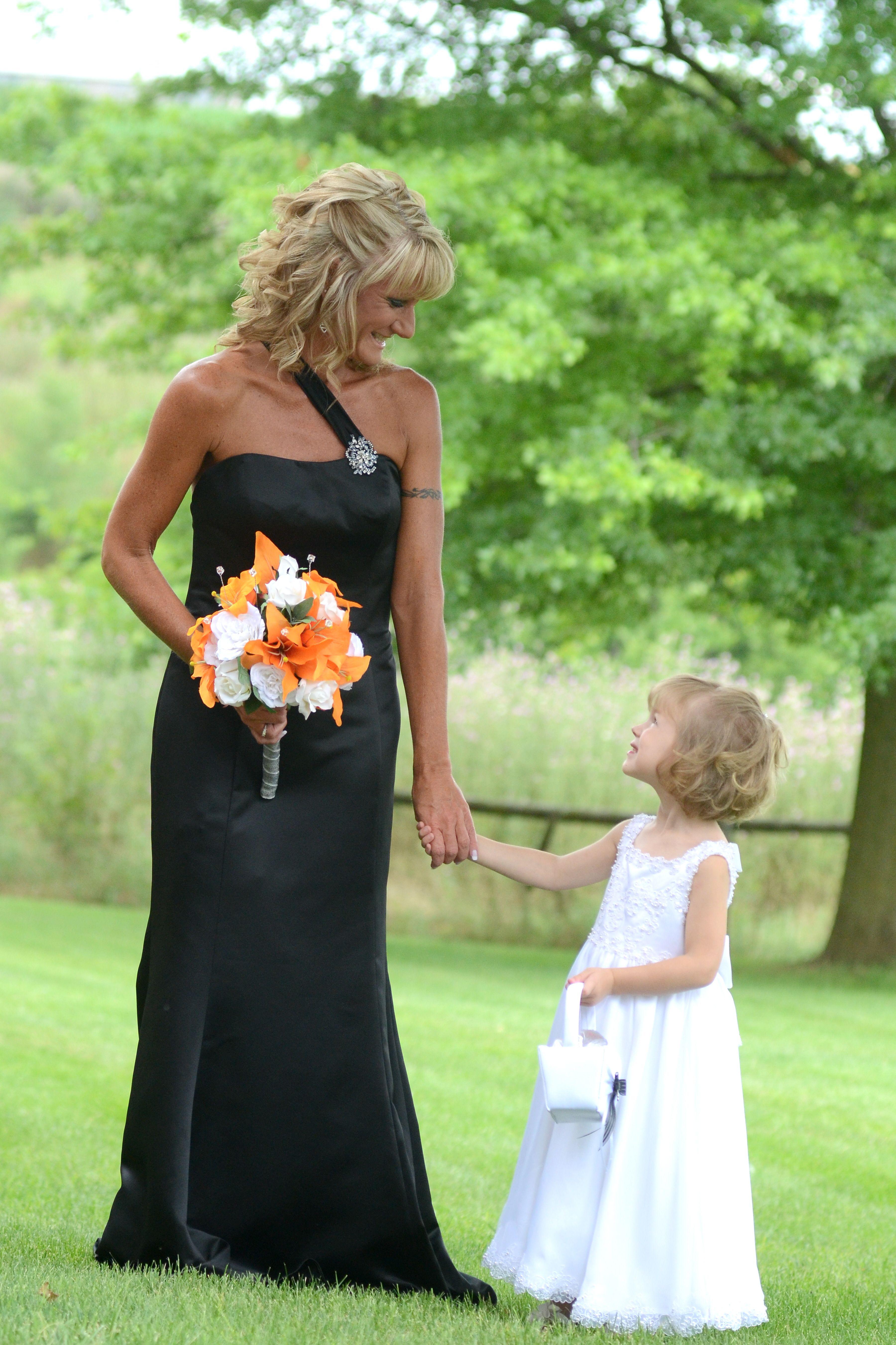 harley davidson wedding myblack wedding dress went awesome with my great niece in white