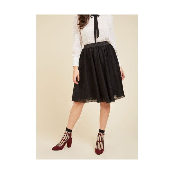 80s Mid-length Full Tulle of the Trade A-Line Skirt ($50) ❤ liked ...