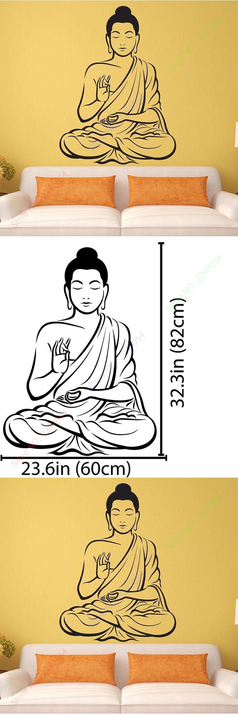 New Arrival Vinyl Wall sticker Buddha Yoga God Om Wall Decal ...