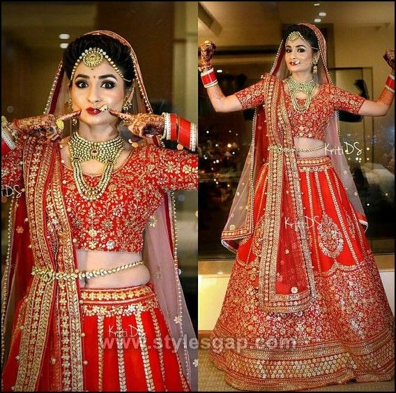 Different Cultures Indian Traditional Bridal Dresses Trends 2019 2020 Indian Bridal Dress Indian Bridal Outfits Bridal Lehenga Red