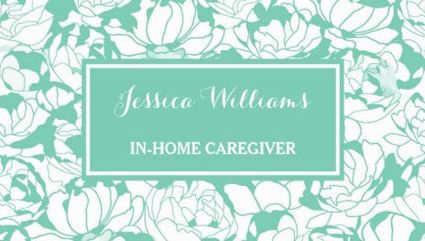 Modern mint green floral girly nurse caregiver business cards http modern mint green floral girly nurse caregiver business cards http zazzle reheart Gallery