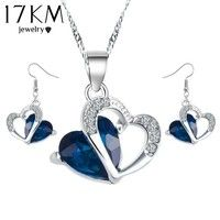 Size : Picture  Style : Fashion  Color : Purple Blue Green Gender : Women Girl Set type : Necklace +
