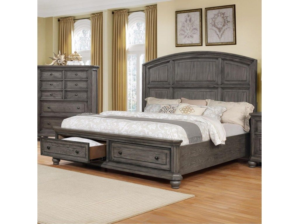 Crown Mark Lavonia Collection Queen Bed King bedroom