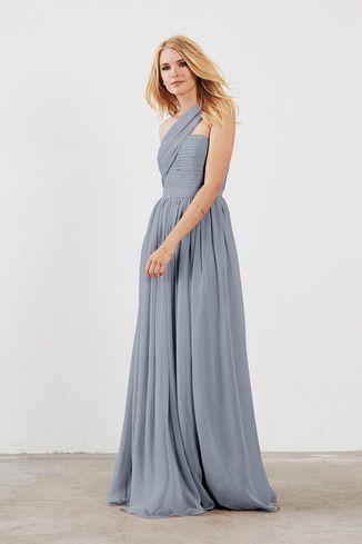 439fd378c3 Seraphina in Poly Chiffon at Weddington Way $175 Mystic Seaside Dusty Blue