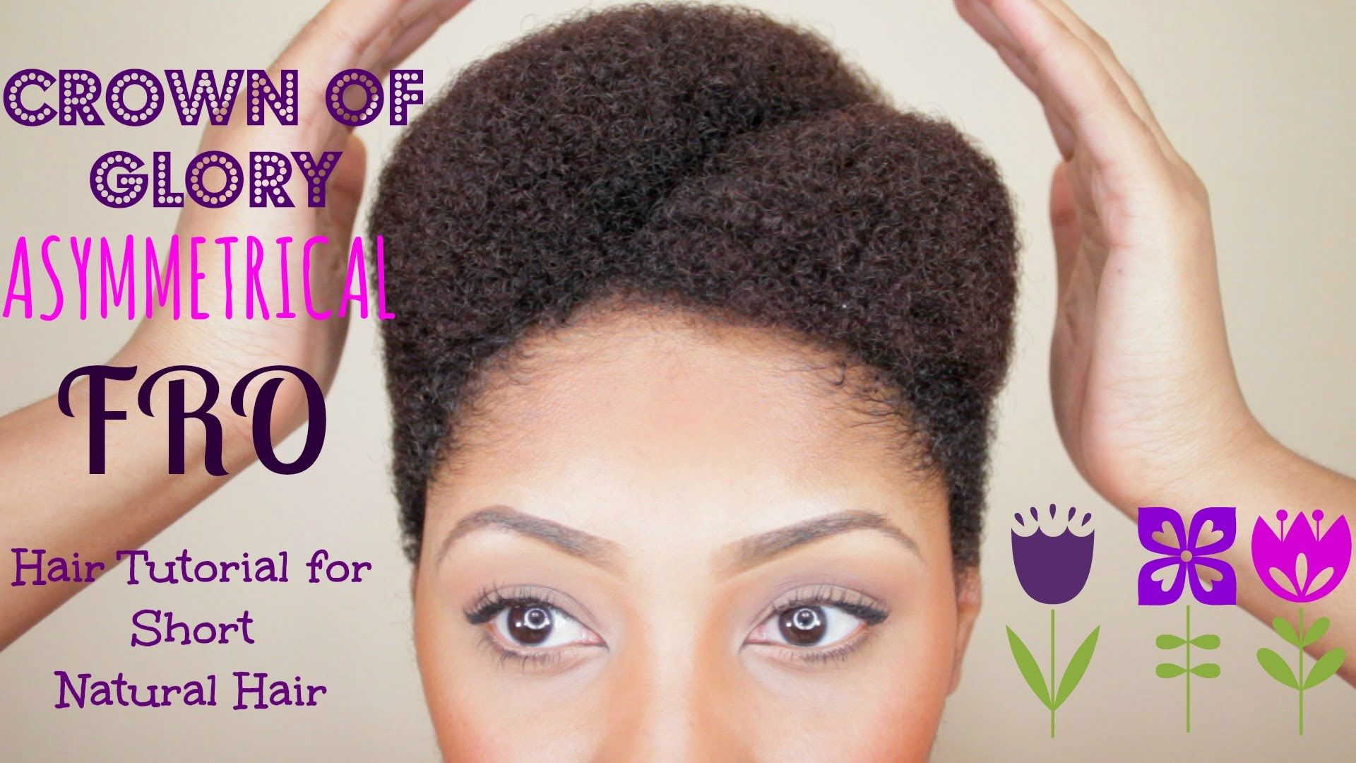 Asymmetrical afro tutorial for short natural hair hair stuff