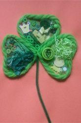 Make an all-green sensory collage.
