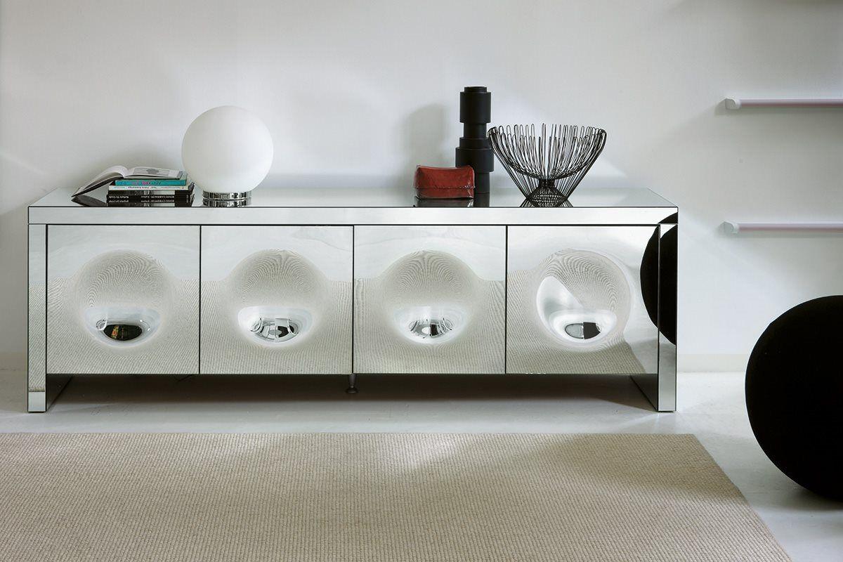 Credenza Moderna Lusso : Parete attrezzata per soggiorno moderna in legno laccato