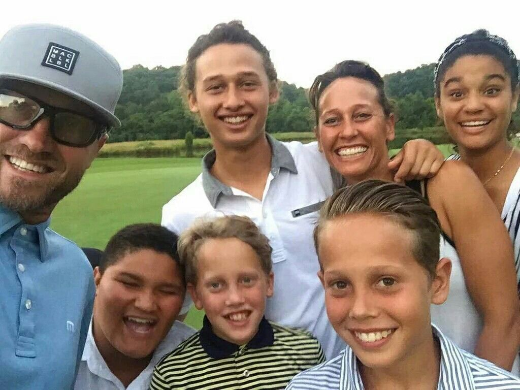 TobyMac and family on father's day, 2016. Christian musician
