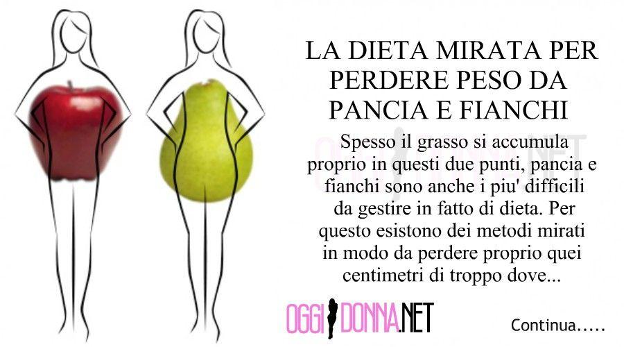 dieta per perdere grasso sulla pancia