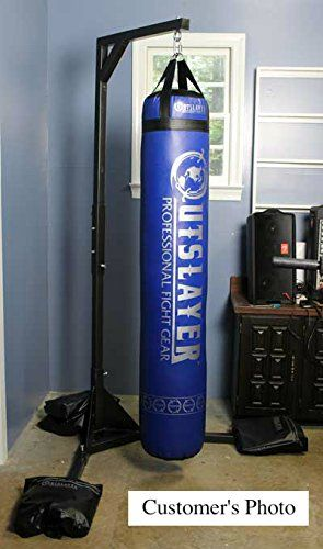 Smile Muay Thai Heavy Bag Stand 350lbs Capacity Duty Punching With 4 Sand Bags Hangers Sports Outdoors
