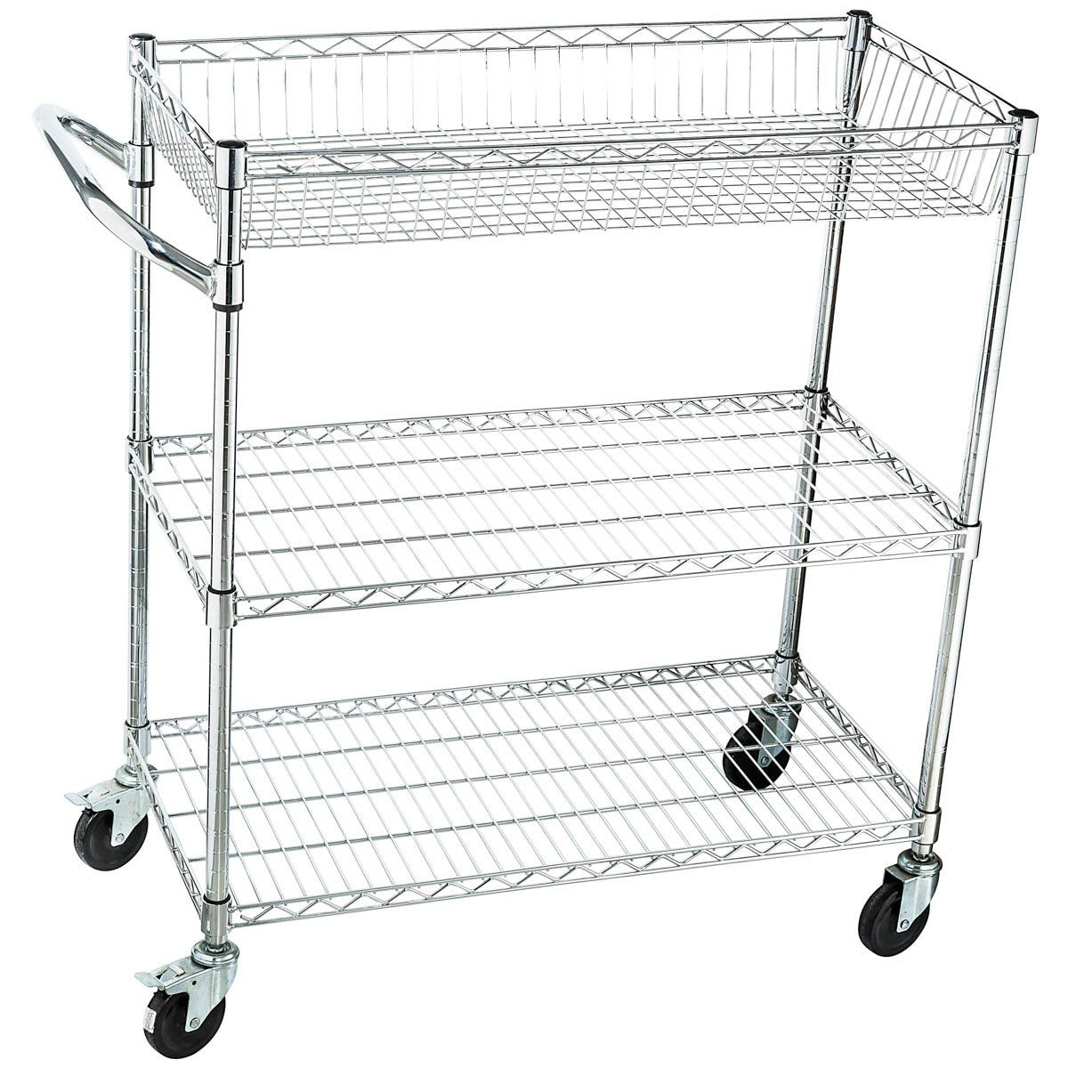 Home It Rolling Utility Cart On Wheels Heavy Duty Commercial Grade Or Kitchen And Tool Nsf