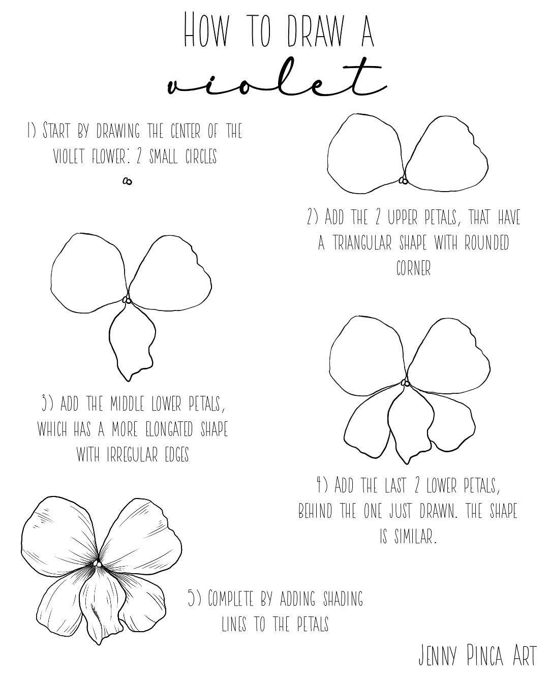 How To Draw A Violet Flower : violet, flower, Violet, Flower, #Tutorial, #howtodraw, #drawingtutorial, #drawingtutorials, #arttut…, Drawing, Tutorials,, Flower,
