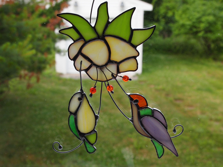 7 x 5 Alivagar Stained Glass Bird Window Hangings SunCatcher Toucan