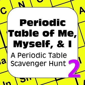 Periodic table scavenger hunt periodic table of me myself i all about me periodic table scavenger hunt periodic table of me myself i urtaz Image collections