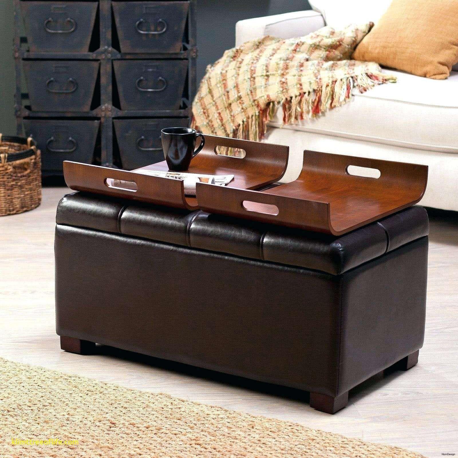 - New Hokku Designs Leather Ottoman Coffee Table, Leather Storage