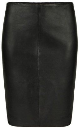 Lucille Leather Skirt at ShopStyle