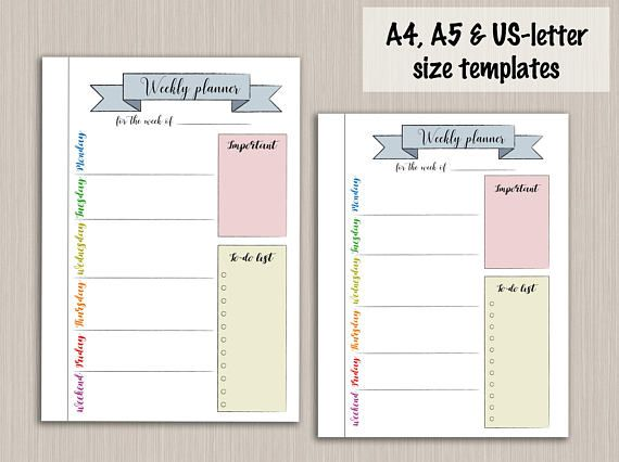 picture relating to Weekly Journal Template titled Bullet magazine printable weekly planner template for bullet