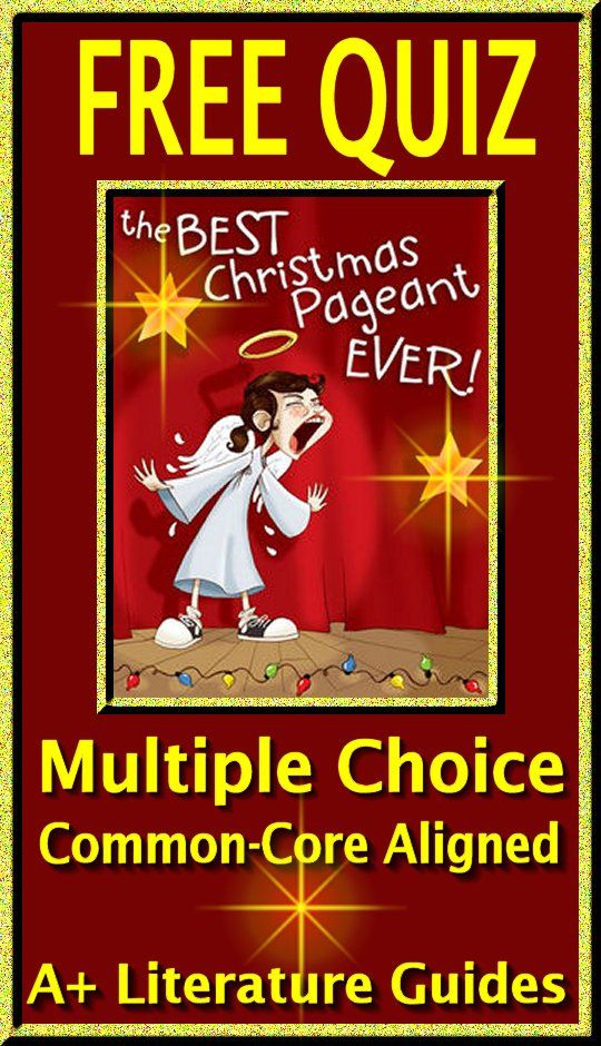 The Best Christmas Pageant Ever Novel Study FREE Sample