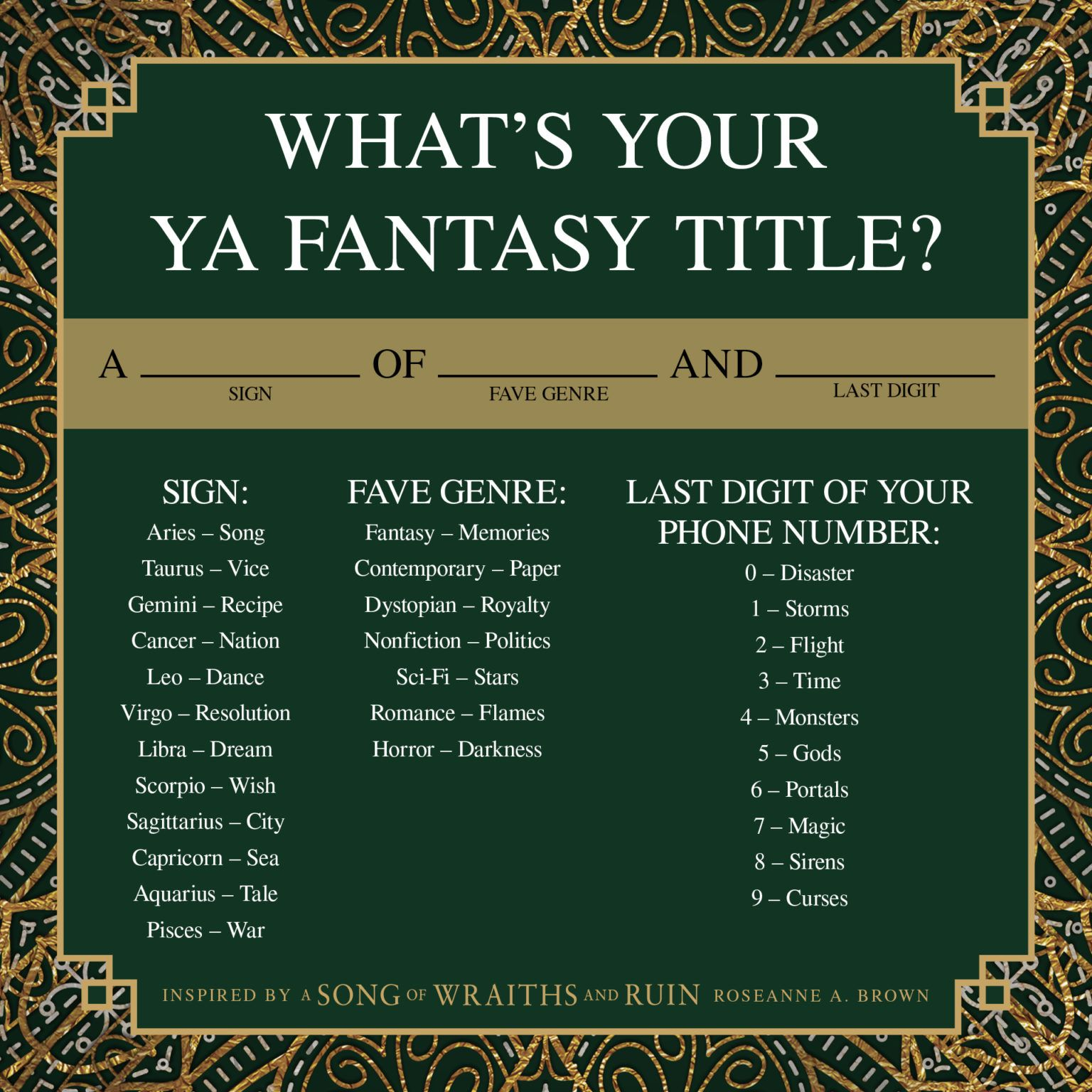 Fantasy title generator discover your own ya series now