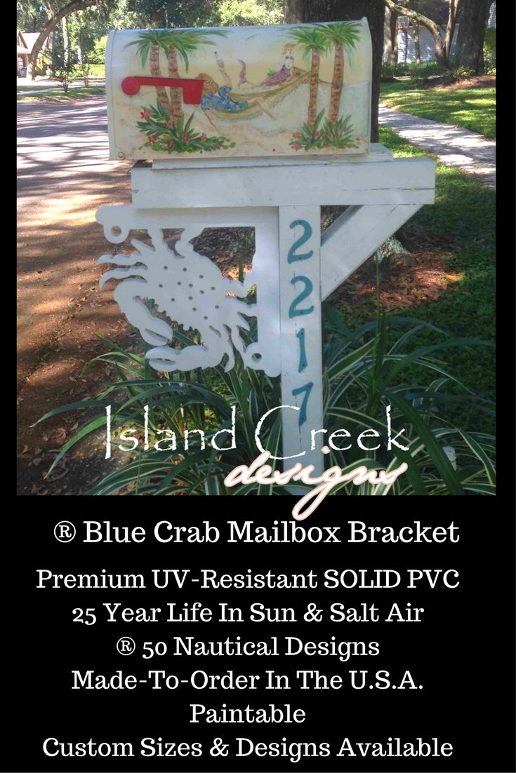 ® Blue Crab Decorative Mailbox Bracket. Mailbox Makeover Awesome. Mailbox  Makeover Curb Appeal. Fun Mailbox Makeover. Decorative Beachy Mailbox. PVu2026