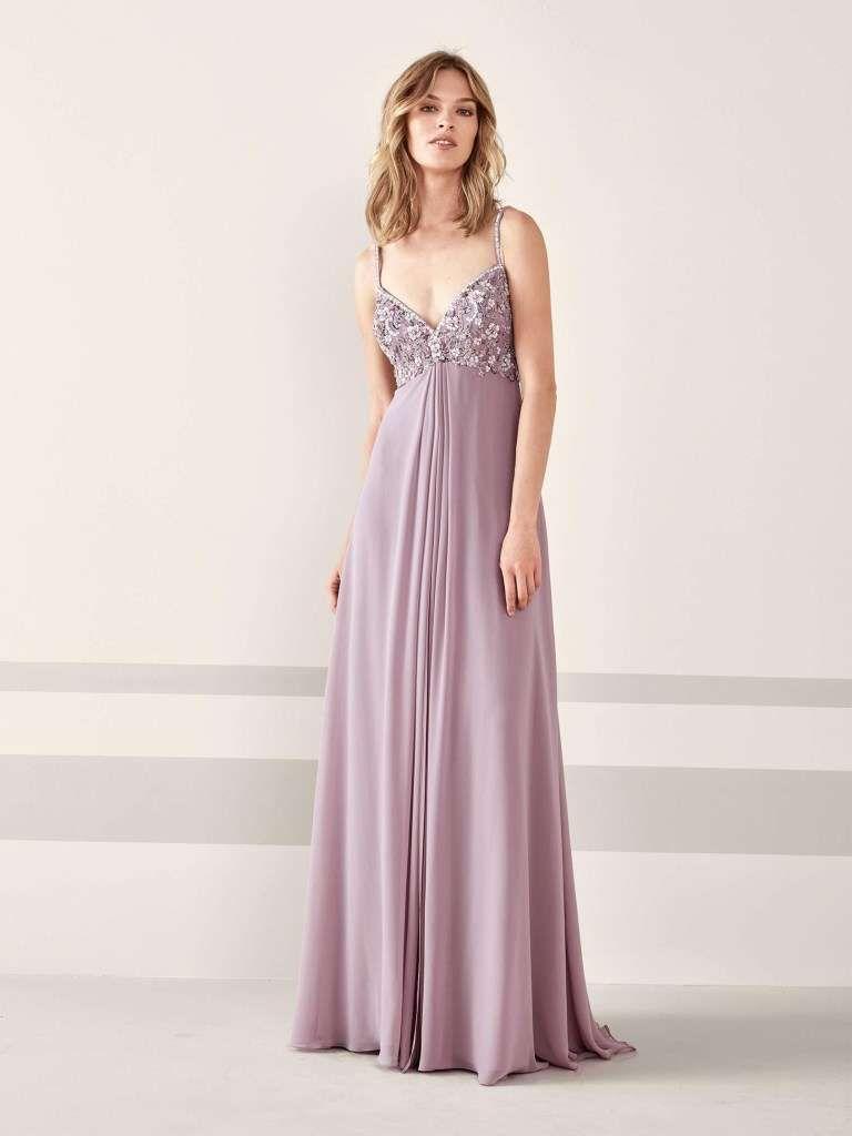 best service 8e7ec 593ab Abito lilla Pronovias | Abbigliamento nel 2019 | Abiti da ...