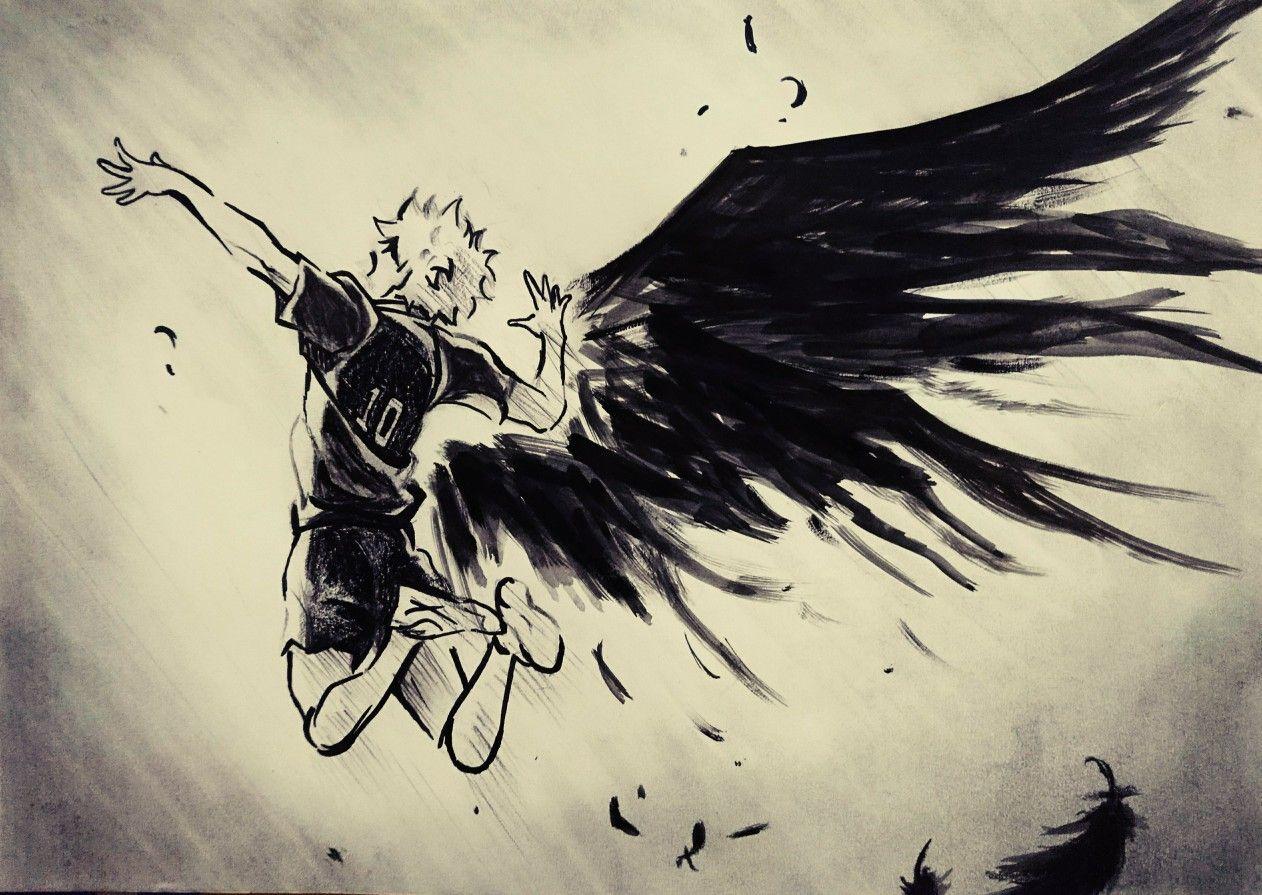 Tobe Fly Haikyuu Sketsa Cara Menggambar Gambar Anime