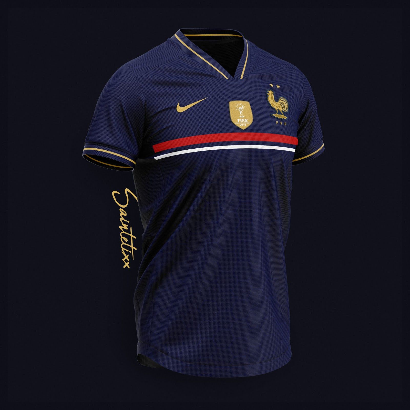 Stunning Nike France 2019 Concept Kits By Saintetixx Footy Headlines Sports Jersey Design Sports Uniform Design France Football Shirt